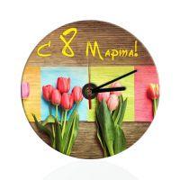Часы настенные, стекло, круг с текстурой 200мм