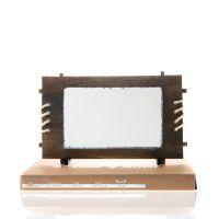 Фотокамень прямоугольник с деревянной рамкой 170х250мм