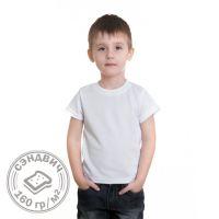 Футболка детская, белая, двухслойная. Размер 104-110