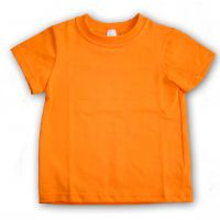 Футболка детская х/б оранжевая Стандарт (24) 92-98