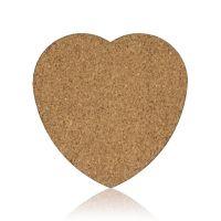 Коастер сердце с пробковой подложкой 95x95х3мм