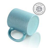 Кружка керамика голубая перламутровая 330мл
