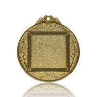 Медаль Zj-M786 золото D65мм, D вкладыша 40мм, задний вкладыш 35х35мм