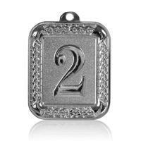 Медаль Zj-M922 серебро прямоугольник 56х66мм скругленные углы