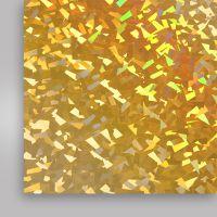 Пленка термотрансферная, голографическая, золото зеркальное, 500мм x 50м