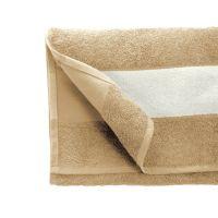 Полотенце махровое 30*70 см, 400 г/м2, хлопок, с 1 полем под сублимацию, бежевый (719)