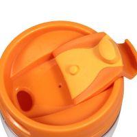 Термостакан пластик оранжевый под полиграф вставку 350 мл